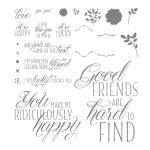 Lovely Friends Photopolymer Stamp Set