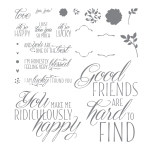 Lovely Friends Photopolymer Stamp Set